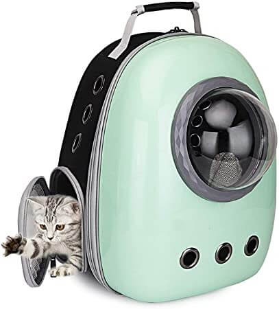 Cat Bubble Backpack with Side Opening