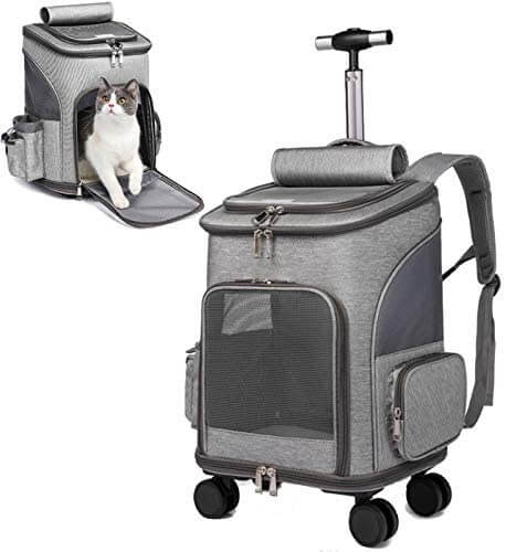 Cat Carrier with Rolling Wheel